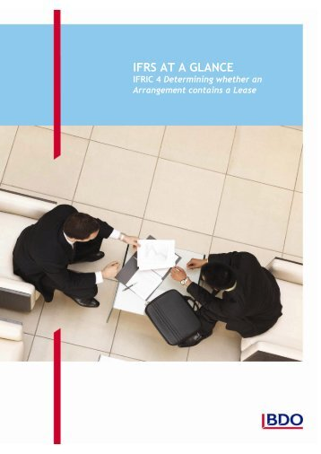 IFRS at a Glance - IFRIC 4: Determining whether an Arrangement ...