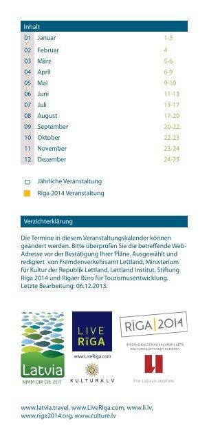 en de top veranstaltungen in lettland 2014