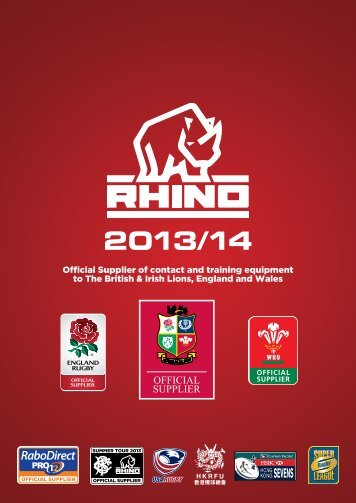 Download Rhino Rugby 2013 Digital Catalogue
