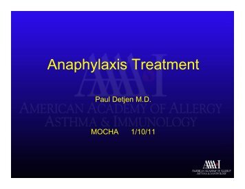 Anaphylaxis Treatment - Mocha