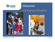 New Volunteer Orientation - Habitat for Humanity of Kitsap County