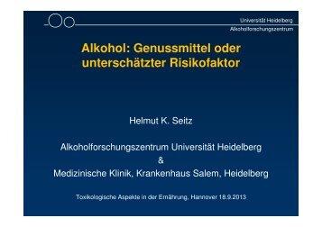 Alkohol: Genussmittel oder unterschätzter Risikofaktor