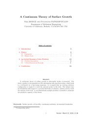 A Continuum Theory of Surface Growth - Mechanical Engineering ...
