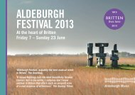 AM Festival 2013 Highlights Postcard - Aldeburgh Music