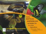 Indian Reptiles, Amphibians, insects in CITES Appendices