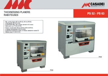 THICKNESSING PLANERS RABOTEUSES - Aircraft