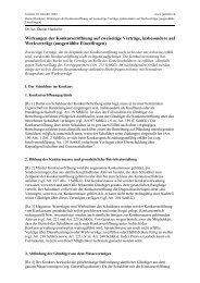 Wirkungen der Konkurseröffnung auf zweiseitige Verträge ...