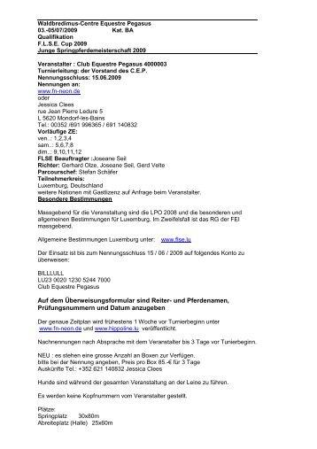 Findel-Reitstall um Steppchen WBO 26.-27.05.2012 Kat ... - HIPPOline
