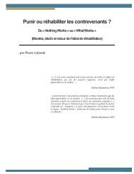 Du « Nothing Works » au « What Works » - Ministère de la Sécurité ...