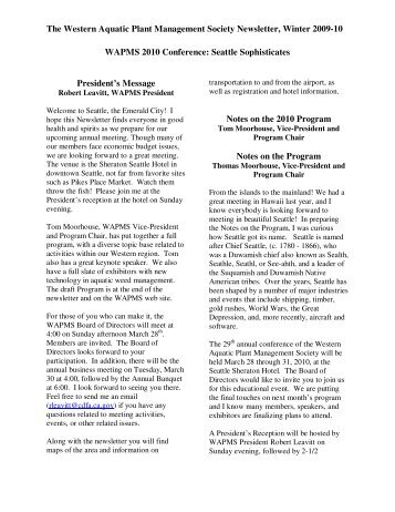 Winter 2009-10 Issue - Western Aquatic Plant Management Society ...
