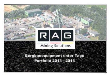 Equipmentangebot 2013-2018 - RAG Mining Solutions