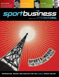 information, insight and analysis for the global sports sector ...