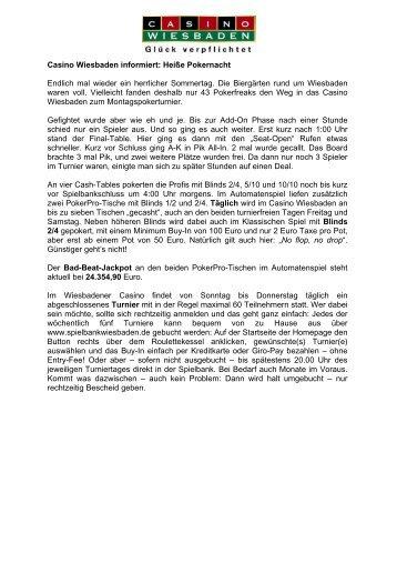 Montagsturnier vom 27.07.2009 - Spielbank Wiesbaden