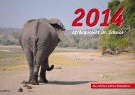 Jahreskalender 2014 - Förderverein Afrikaprojekt Dr. Schales e.V.