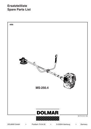 MS-250.4 Ersatzteilliste Spare Parts List - Jurec