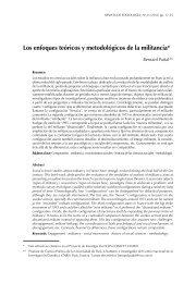 Los enfoques teóricos y metodológicos de la militancia - Facultad de ...
