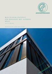 Max-Planck-InstItut für BIologIe des alterns köln - Bauen für die ...