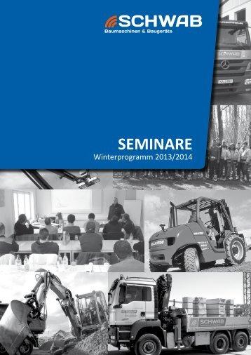 SEMINARE - Schwab Baumaschinen Baugeräte