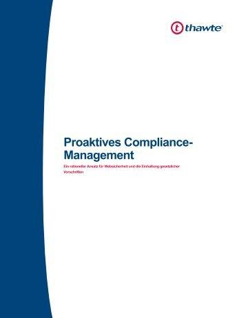 Proaktives Compliance- Management - Thawte