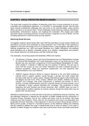 chapter 4. social protection issues in uganda - Institute of ...