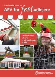 APV for festudlejere - BAR - service og tjenesteydelser.