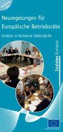 Neuregelungen für Europäische Betriebsräte - Neufassung - Europa