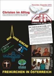 Gemeindebrief 2013-11 12 - Christen im Alltag