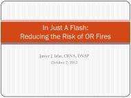 In Just A Flash: Reducing the Risk of OR Fires - California ...