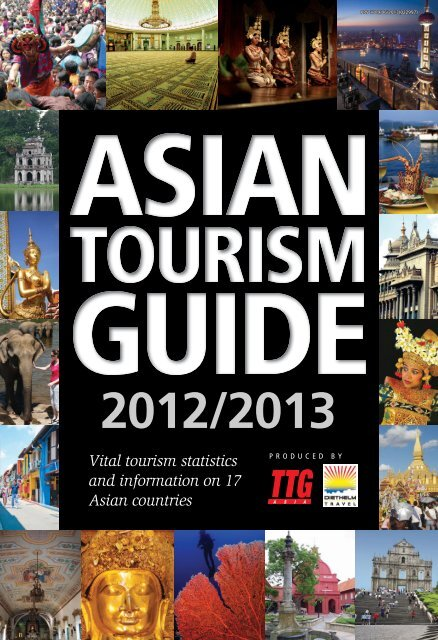Vital tourism statistics and information on 17 Asian