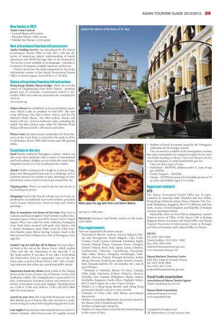 Vital tourism statistics and information on 17 Asian ... - TTG Asia
