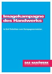 Imagekampagne des Handwerks - Brandmanagement von ...