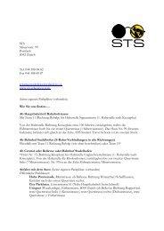 STS Minervastr. 99 Postfach 8032 Zürich Tel. 044 388 68 82 Fax ...