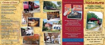 Metamora Brochure - Franklin County Indiana Tourism