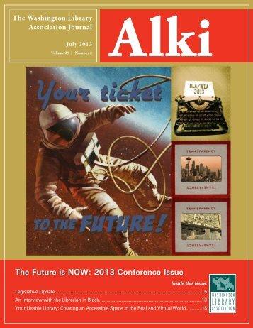 v. 30, n.2, July 2013 - Washington Library Association