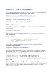 Arbeitsblatt 2 – EAD II Bildbearbeitung
