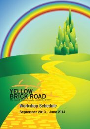 Download SEPTEMBER TO JULY 2013/14 - Yellow Brick Road