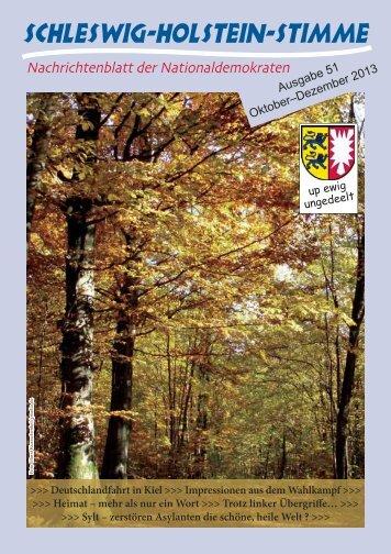 Ausgabe 51 Oktober–Dezember 2013 - Schleswig-Holstein-Stimme