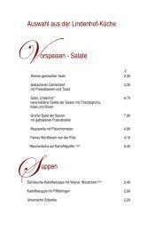 Auswahl aus der Lindenhof-Küche orspeisen - Salate uppen
