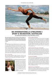 ibs internationella utbildning i sport & recreation, australien - STS