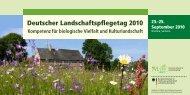 Deutscher Landschaftspflegetag 2010