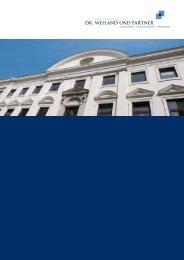 Image Broschüre (PDF 2,8 MB) - Dr. Weiland und Partner