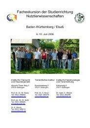 Fachexkursion der Studienrichtung ... - wwwuser - GWDG