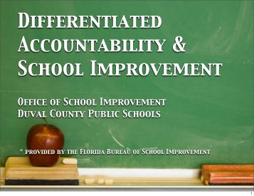 DA and SIP presentation for HS and MS principals - Duval County ...