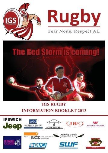 igs rugby 2013 - Ipswich Grammar School