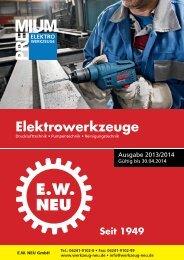 PREMIUM Elektrowerkzeuge 2013/2014 - EW NEU GmbH Worms ...
