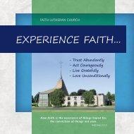 to view this vision. - Faith Lutheran Church