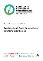 Qualitätssiegel Berlin für exzellente berufliche Orientierung
