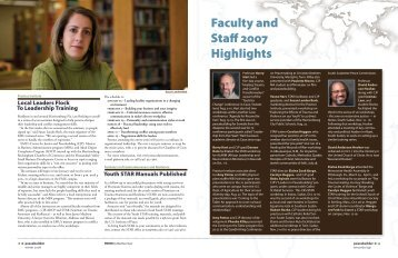 Faculty and Staff 2007 Highlights - Eastern Mennonite University