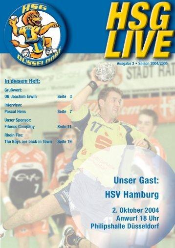 Unser Gast: HSV Hamburg - HSG Düsseldorf
