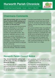 Hurworth Parish Chronicle - Support